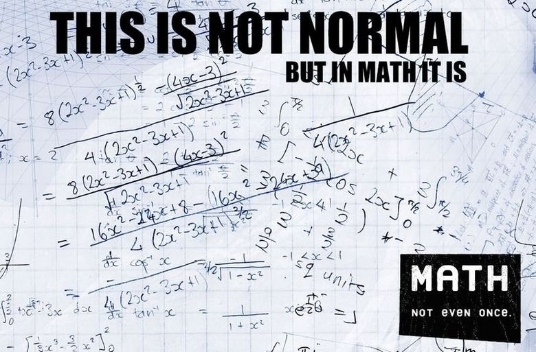 NOT EVEN ONCE. made me lawl.. In the image... those are derivatives of trig functions. Where did my life go...