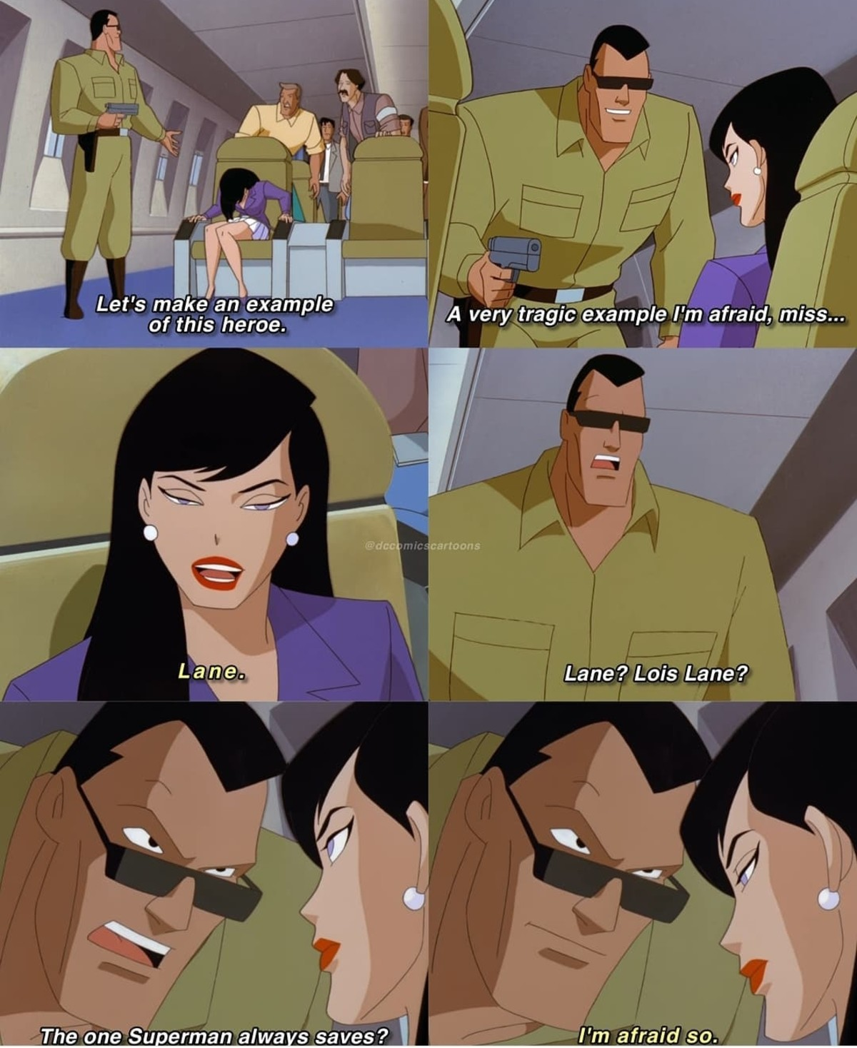 Now you screwed up.. .. Lois, internally:
