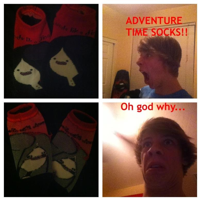 oh god socks. You're cute.. Relevant.