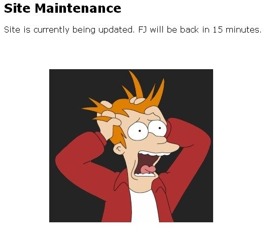 Oh god!. You all know this feel. Site Maintenance Site is currently being updated. El will be baa: minutes.