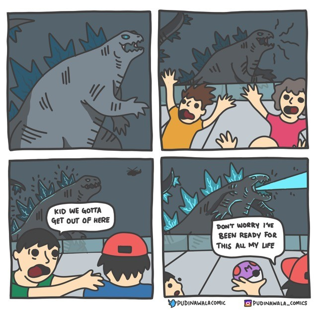 OH NO. .. What types would Godzilla be? I'm thinking Dragon with a secondary Poison type for the radiation aspect (heck, maybe Poison would be its primary type).Comment e