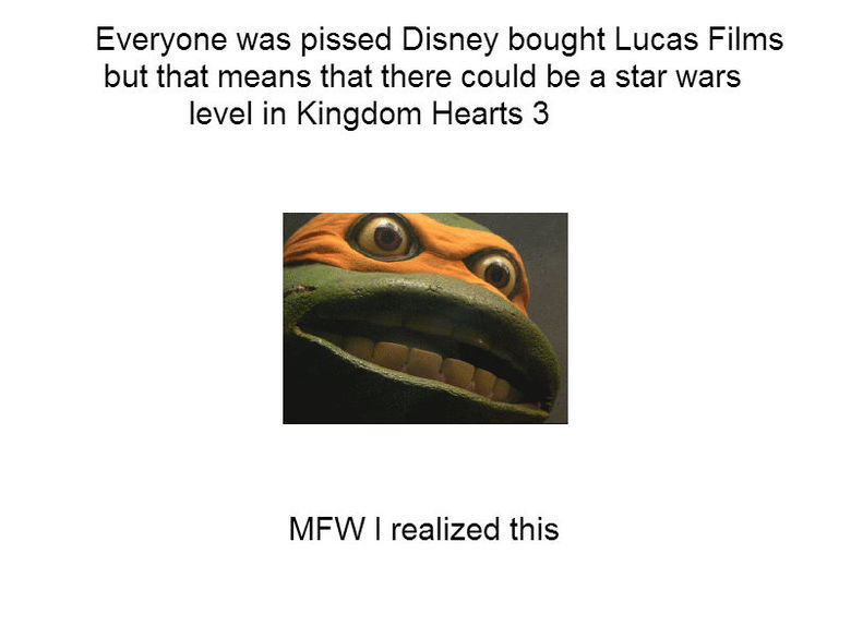 OH. YOUR. GOD.. Every one was pissed but now it pays off. Everyone was pissed Disney bought Lucas Films but that means that there could be a star wars level in