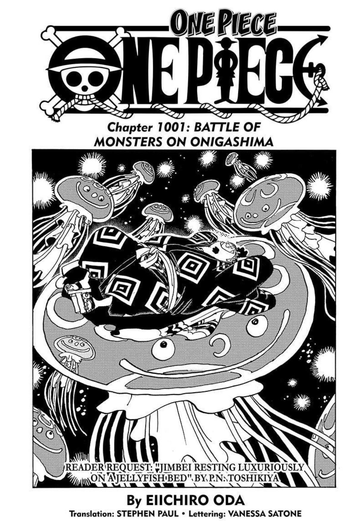 """one piece chapter 1001. join list: onepiece (236 subs)Mention History.. """"I will give you, a surgeons death..."""" BUNCH OF ROCKS, GO!"""