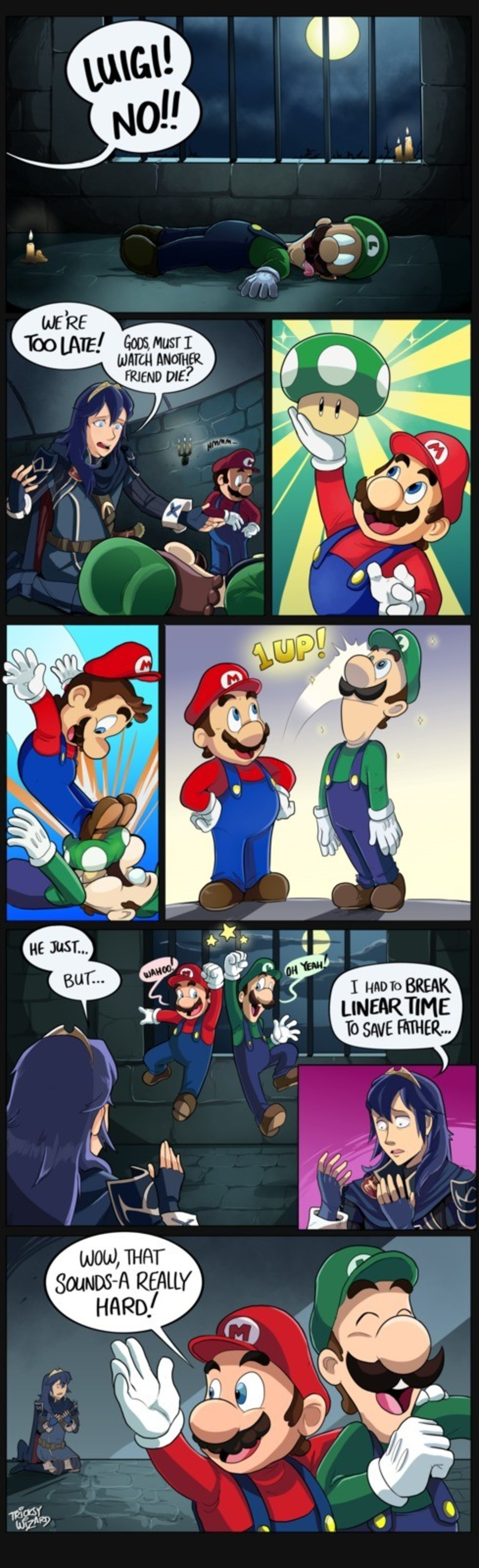 One Up. .. To be fair 1up mushrooms probably only grow normally in the mario universe