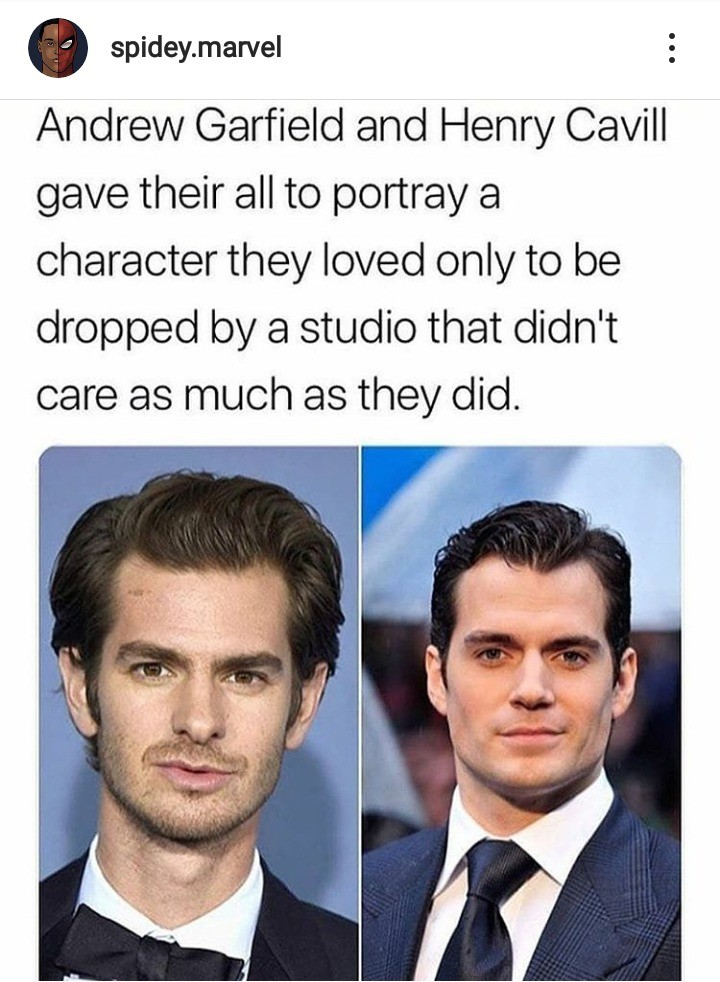 only one got attention.. .. What did Henry cavill get dropped from?