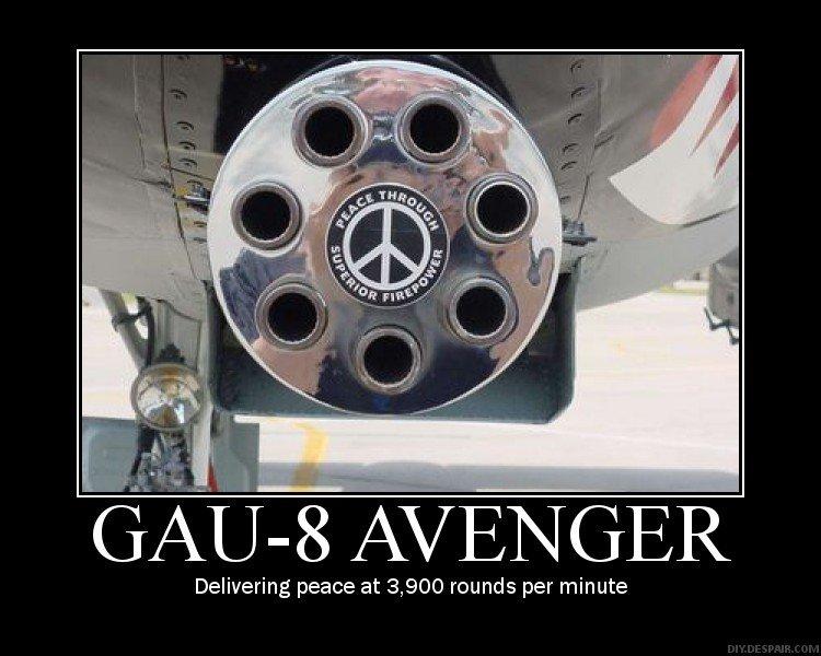 Peace through extreme violence. I like.