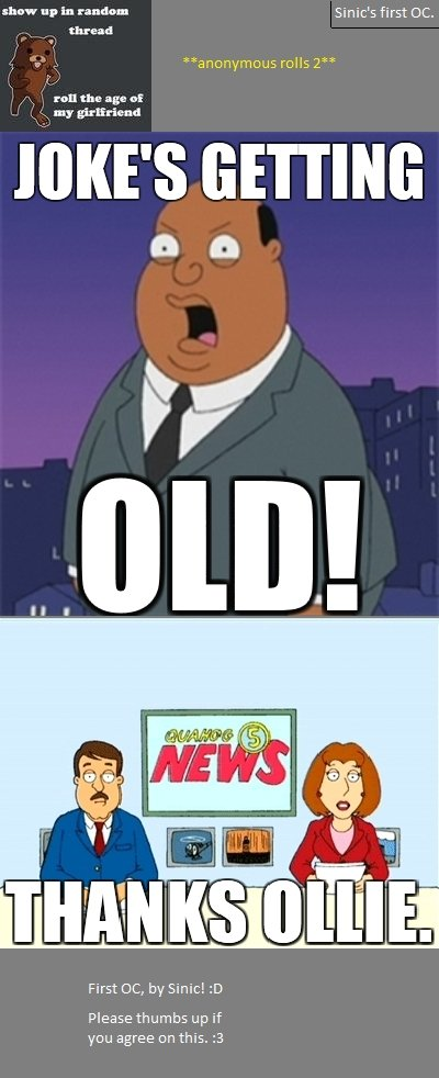 """Pedobear's Getting Old!. Ollie Williams speaks the truth, every thead I go on there is a comment """"rolling the age of Pedobear's girlfriend"""", it is unf"""