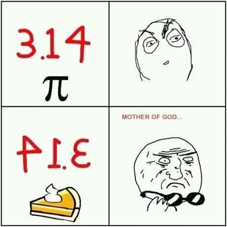 Pie...3.14. Mother of god....