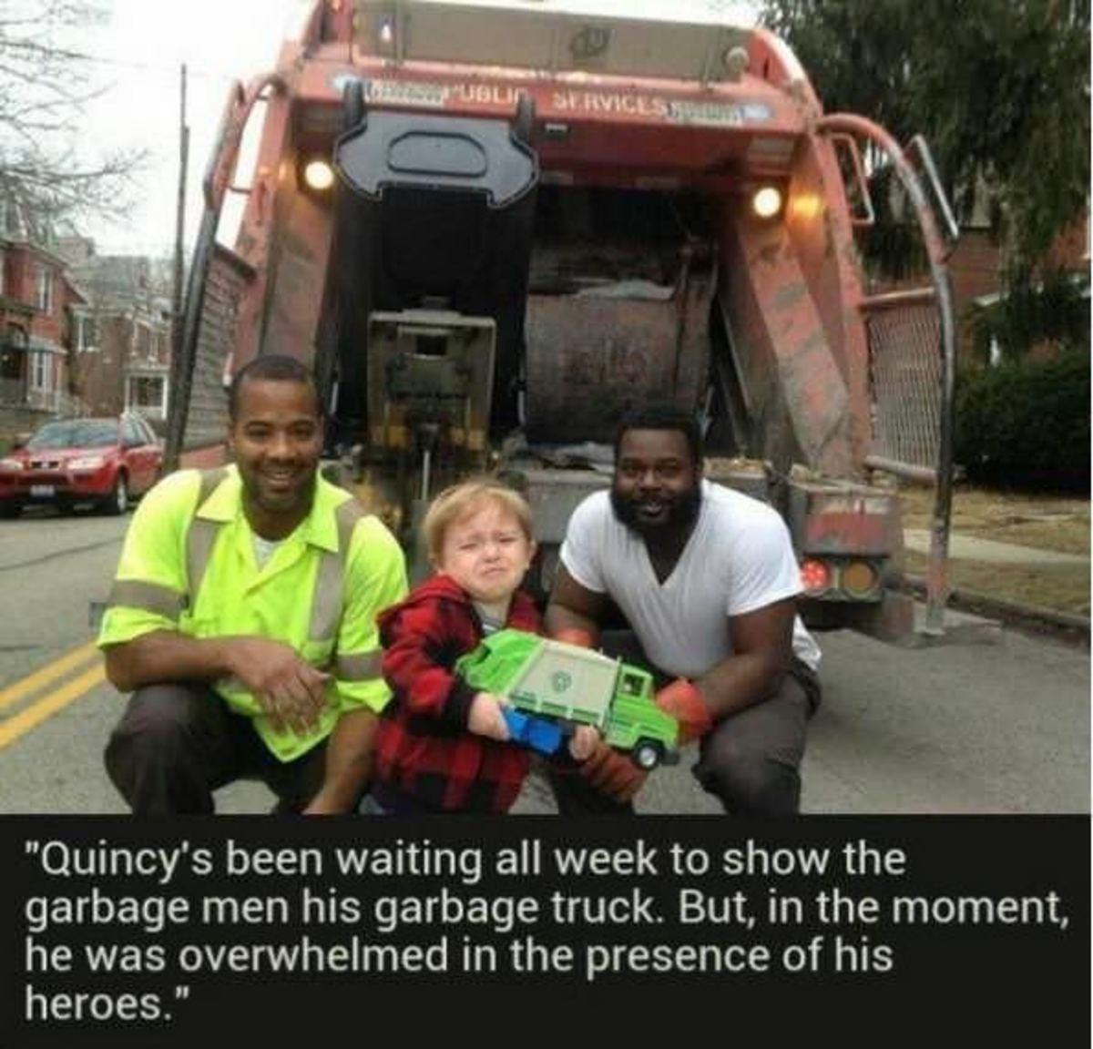 pleasant Lark. .. They do deserve some respect and appreciation. They do a valuable service to society. Thank you Garbage men.