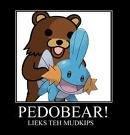 Poor Pokemon. .. MUDKIP is likeing it.