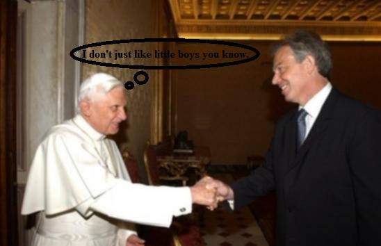 Pope Rape Face. Run Tony, run!.