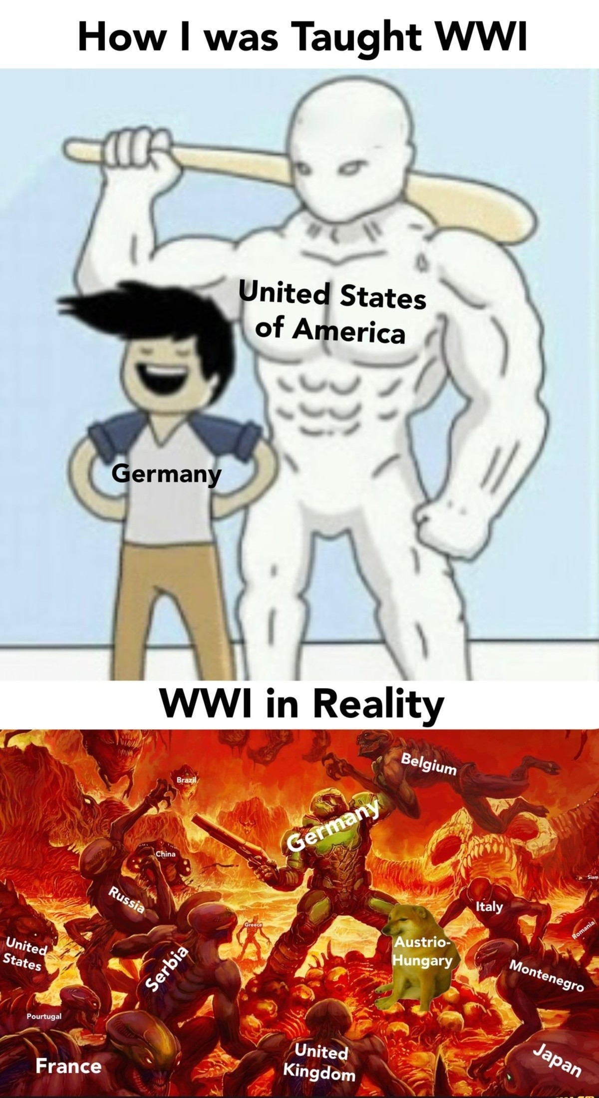 present Swan. .. >>Germany using shotgun during WW1 Massive lulz