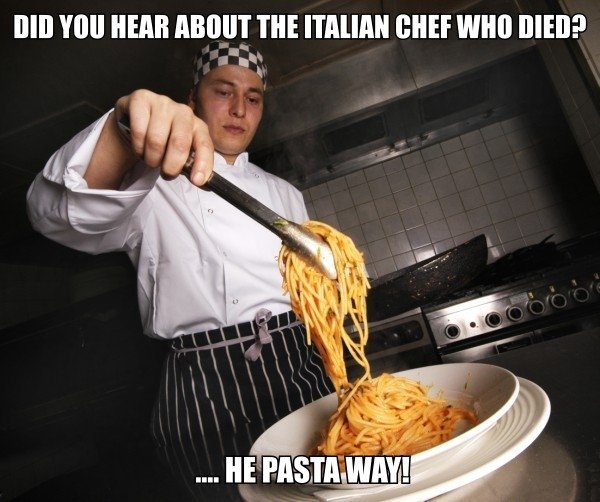 Punny Chef. My first proper image upload Please thumb up . Ill HEB . lerl' THE ? iit I it In r L HE Pas, Tli W