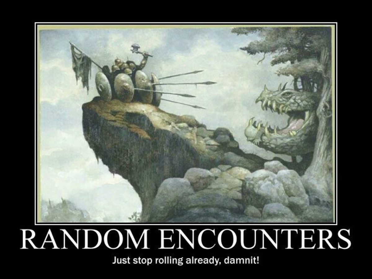 Random encounters. join list: DnDStuff (1419 subs)Mention History Who you encounter and must kill... golliath rolled user farted Imma stab u
