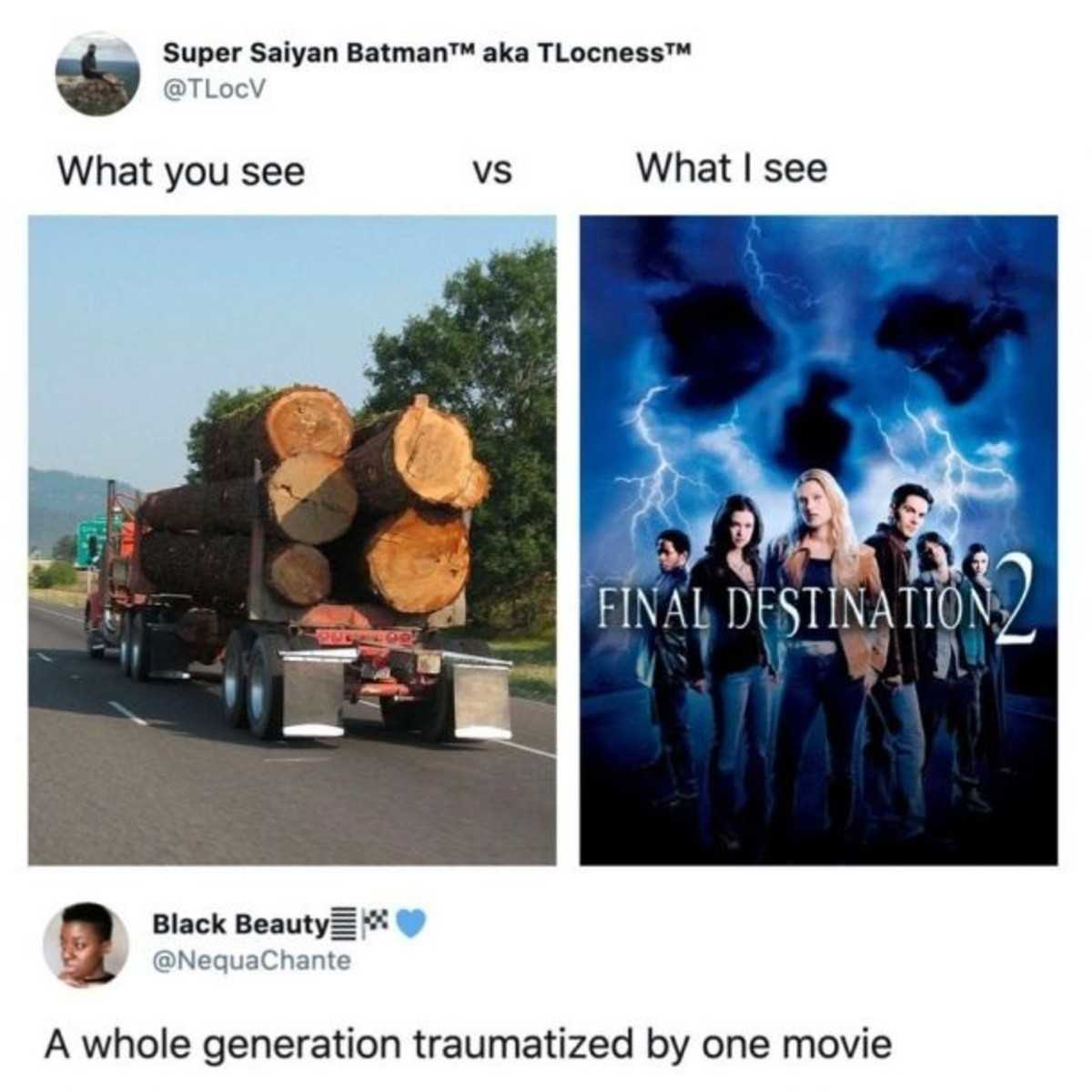Relatable. .. They were up movies