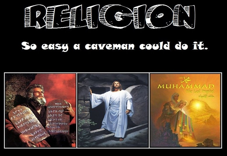 Religion. Ever notice how religions all tend to be started by people living in or near caves? I posted this on the FB Draw Muhammad Day May 20 page... CHRISTIAN SUCKS BALL LOL YOU GUYS LIVE IN THE JEWNITED STATES OF AMERICUNT