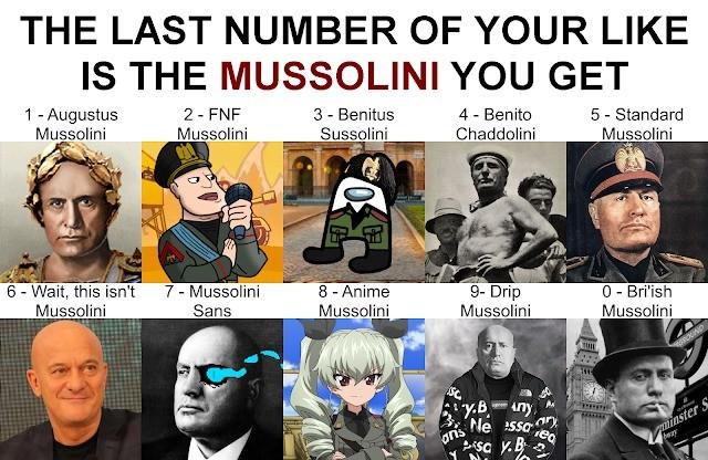 "Roll Your Mussolini. .. ganjalf used ""roll 1, 0-9""ganjalf rolls 6"