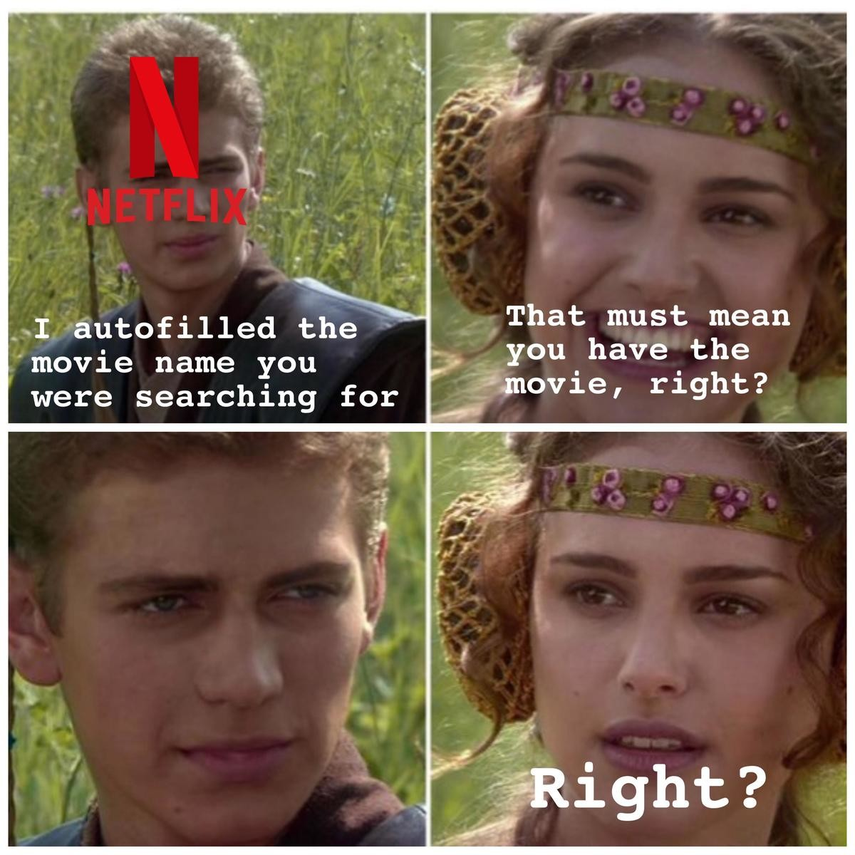 rough MemeBoys. .. Every time I've ever been with someone trying to find something on Netflix it always takes hours to agree on something that they actually have... and people spe