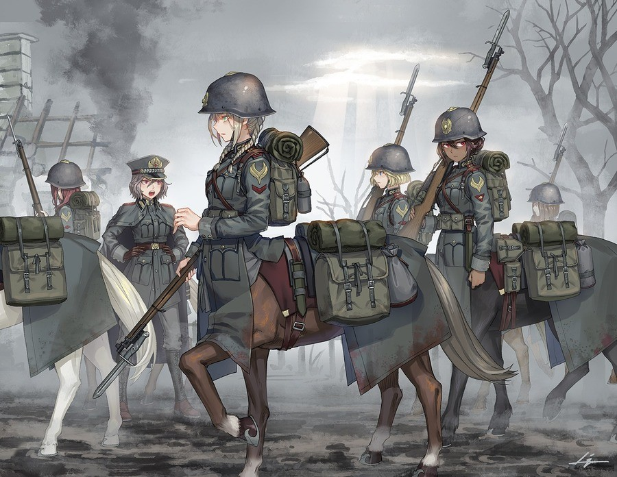Royal Dragoons. Source: .. I do not like where this is going. Comment edited at .