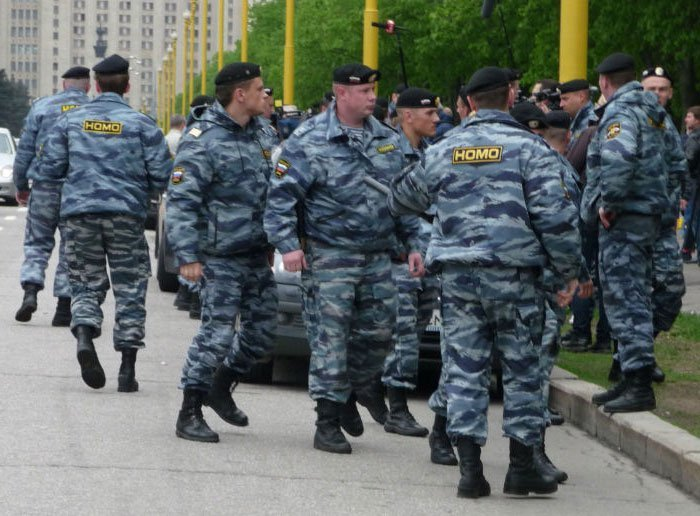 Russian police. .. i dare you to call them that i dare you