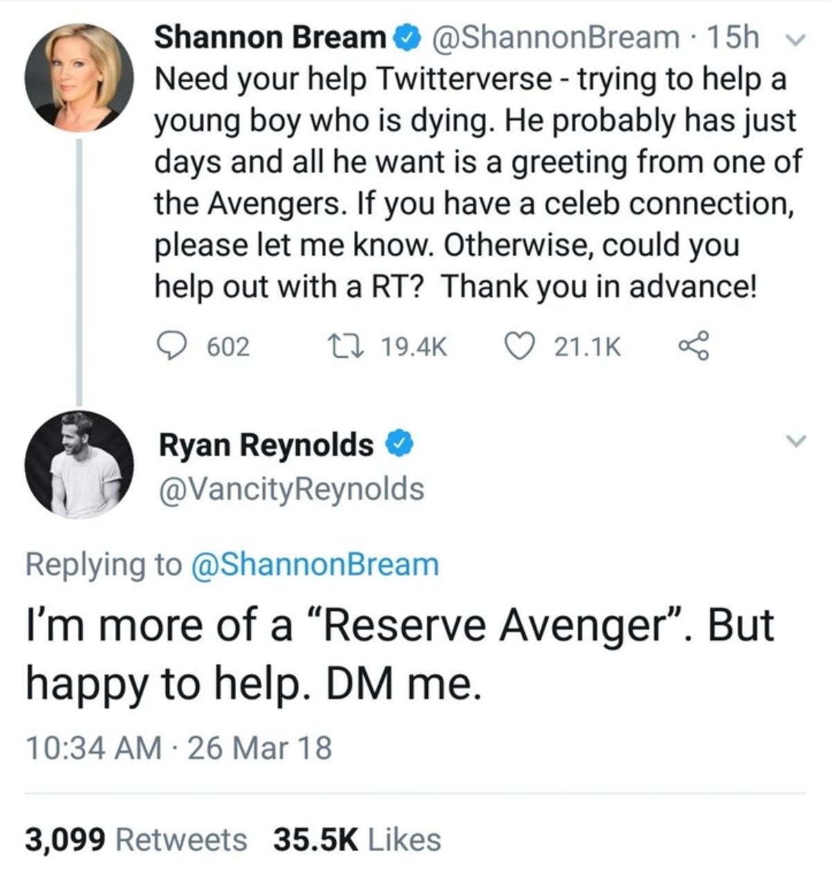 Ryan assembles. join list: MarvelStuff (205 subs)Mention History. Shannon Bream 9 (ii) I 'NP' Need your help - trying to help a young boy who is dying. He proba