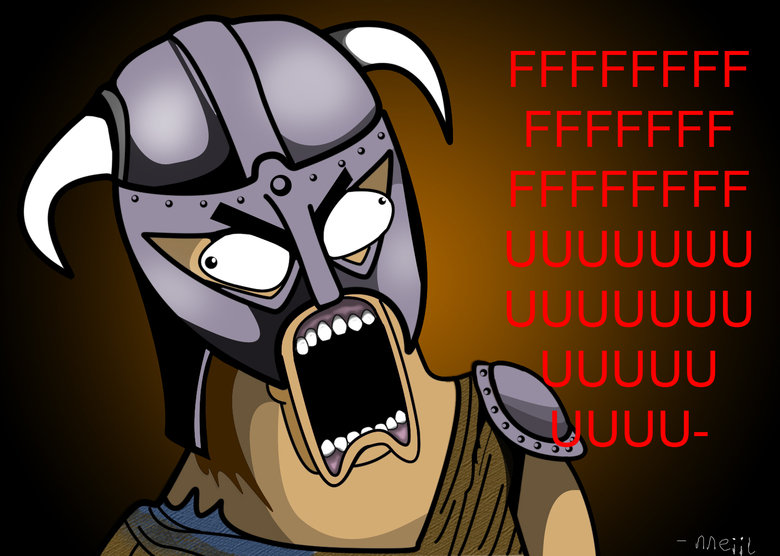 Skyrim Rage Face. I'm just going to leave this here... Redid a similar face in a higher quality for you, funnyjunk. You know when you're killing a troll and you