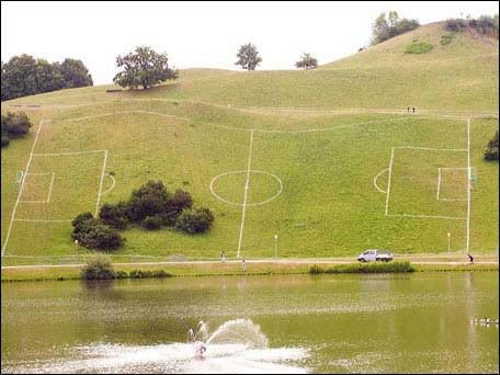 Soccer Field FAIL. .. itd kinda be fun to play on a field like that impossible but fun