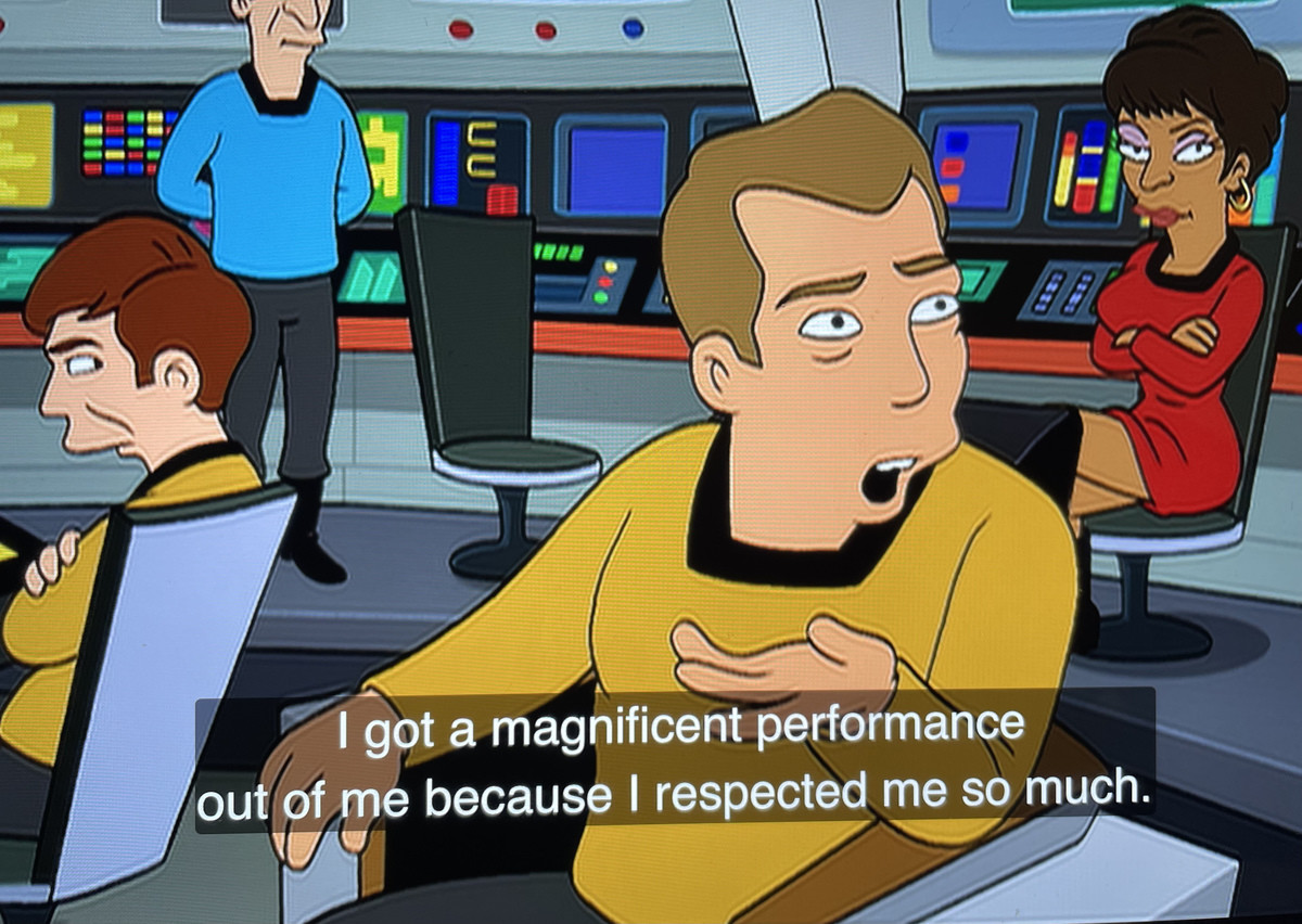 Something Shatner would say. ..