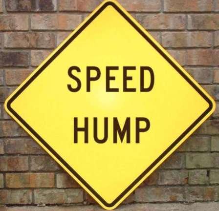 Speed Hump. Humpityhumpityhumpity hump.