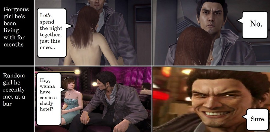 spotted Trout. .. Kiryu's all about the one night stand.