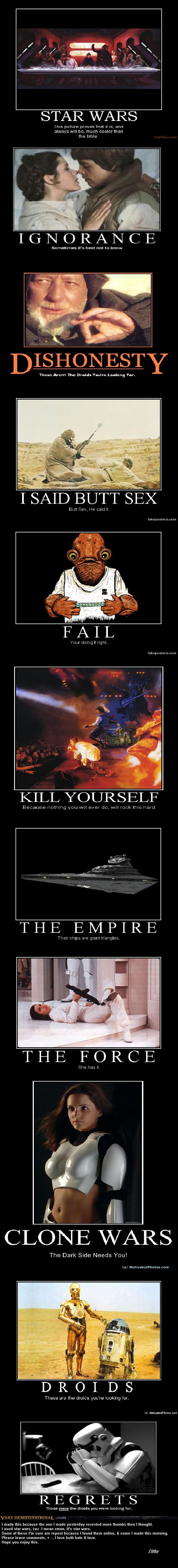 Star Wars Demotivational. bah its a trap bah.. Moar please.