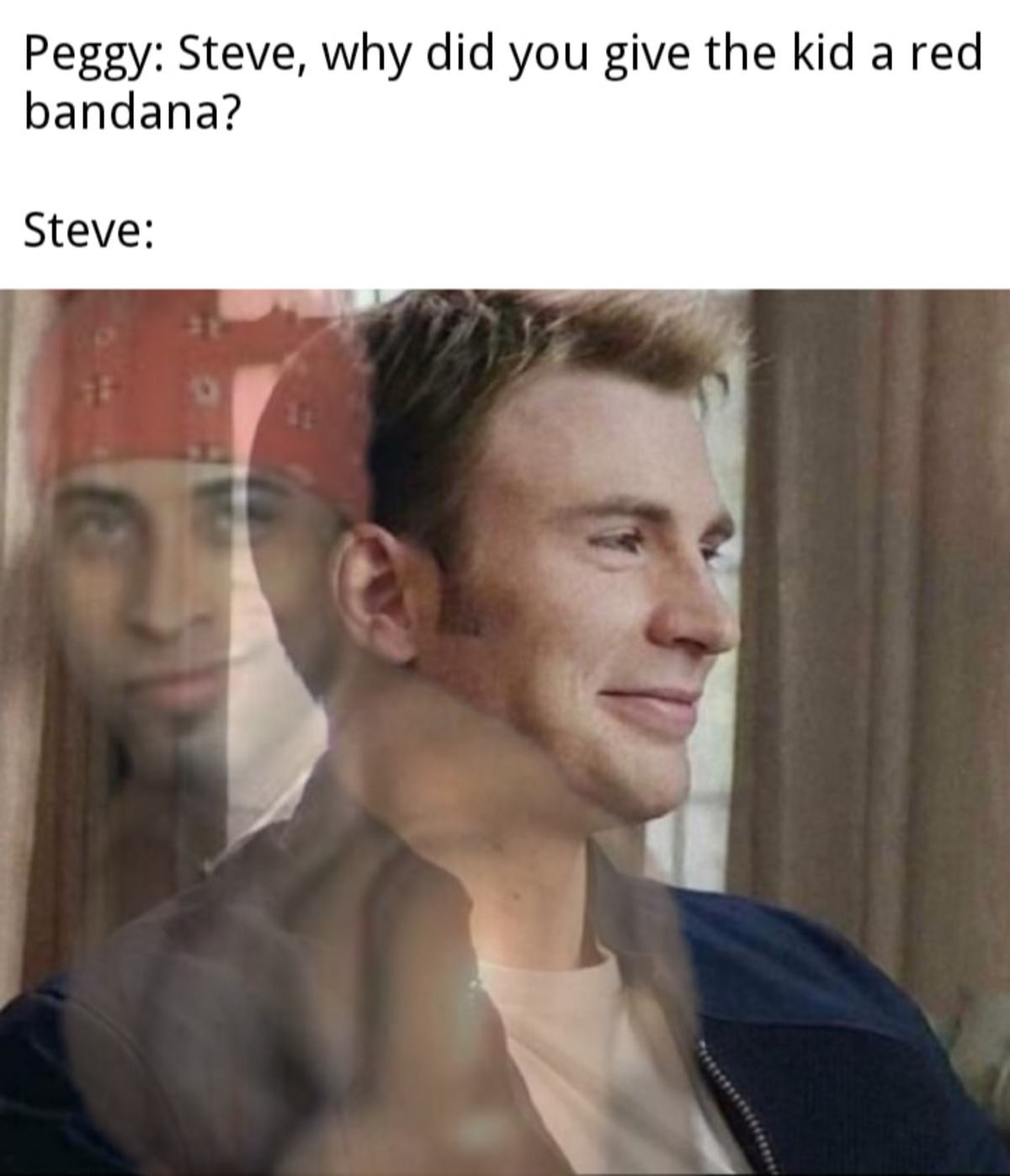 Steve planting the seed for a new hero. .. finally a positive one