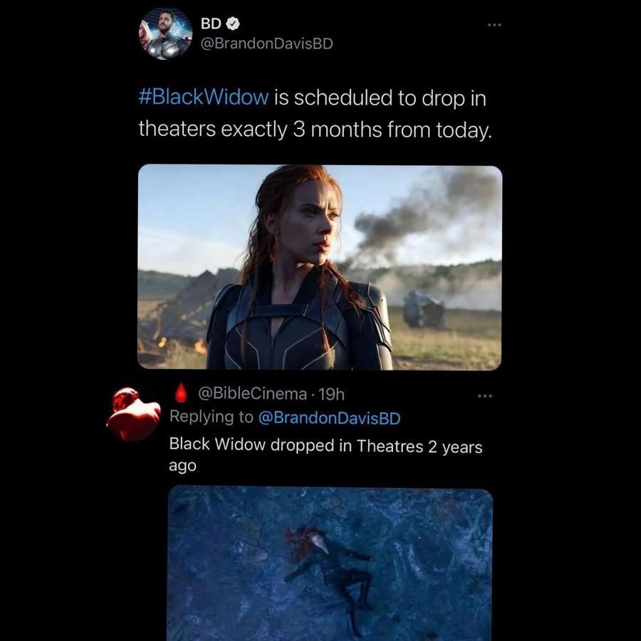 stiff hoc Alpaca. .. Black Widow had a movie?