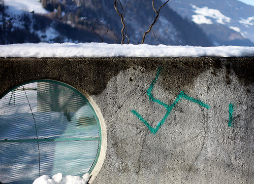 Swastika Fail. .. who would ruin a beutiful wall with such racist rubish !