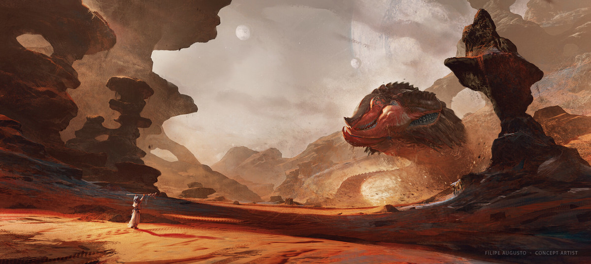 The Ancient Beast Summoning by Filipe Augusto. .