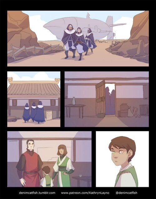 The Cycle Continues.... Asami searching for the new Avatar. This made me sad once I realized Korra was dead.....it's Aang all over again.....Artist link .. I like to think they had a good run before the whole dying and being reincarnated part, but I guess we'll never really know......