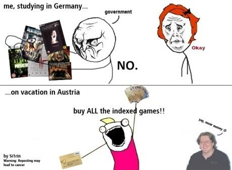 The problems of german gamers. .. austriaRichard Simmons reporting in