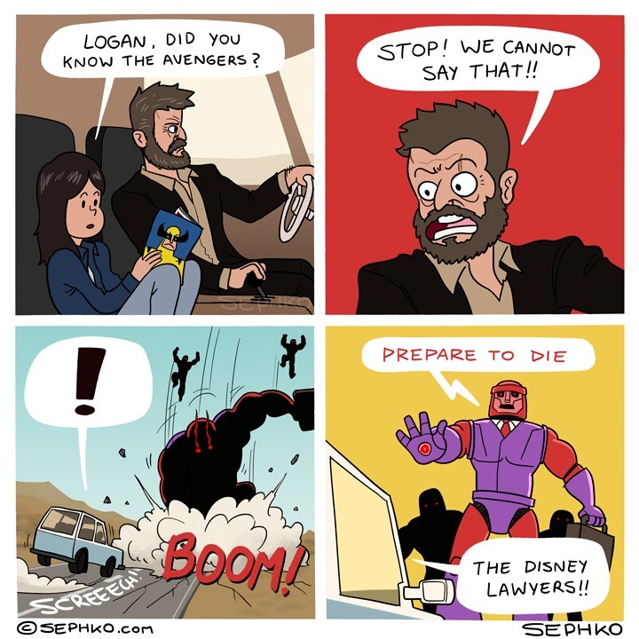 The True Terror. .. isn't X-men owned by disney now? This doesn't make much sense