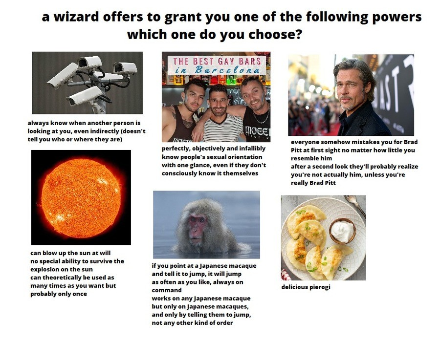 The Wizard's Choice. .. The sun explosion obviously.