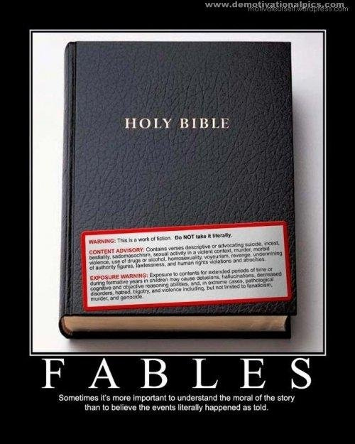 the bible. go to my profile for more funny posters.. i see no holes in that bible