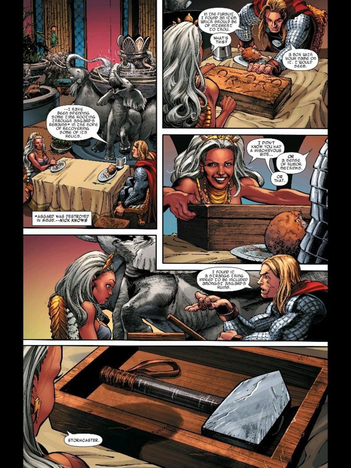 Thor & Storm. .. Now if there should be a comic power couple...these two make too much sense