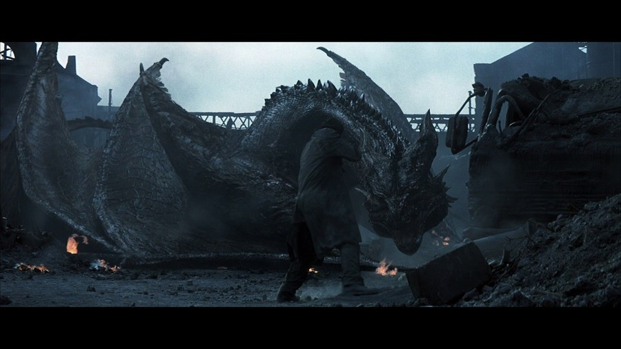uncooked Pig. .. Reign of Fire, 2002 I really liked the dragon design for this movie.
