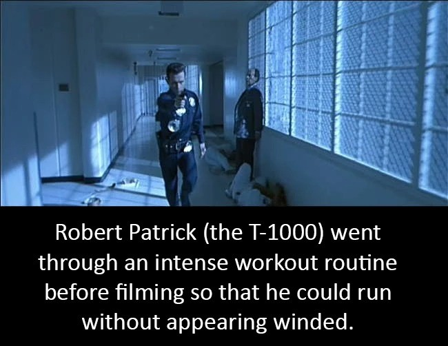 unnatural Memers. .. He also ran fast enough to catch up to the kid playing John Connor while he was on his bike so he had to dial it back