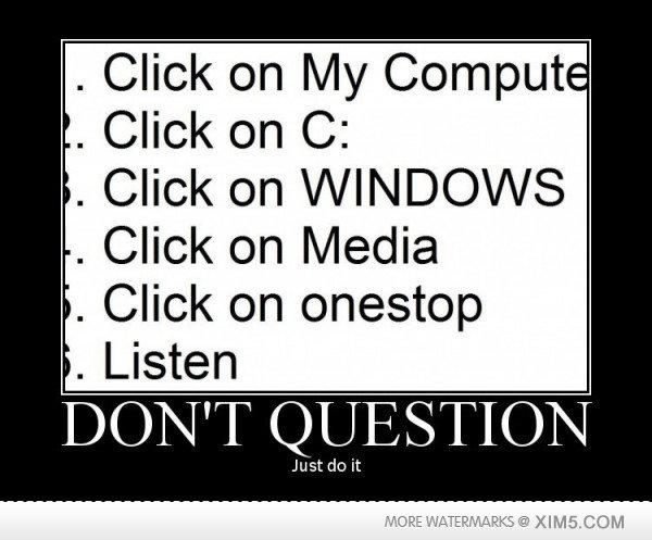 (untitled). . Click on C): Click on Media Click on onestop Listen