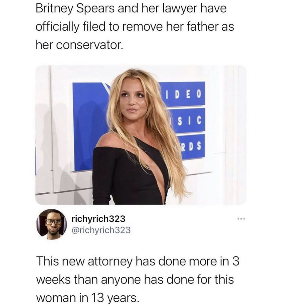 upstart Rat. .. I dont give a about Britney or celebrities in general, HOWEVER the legal shenanigans going on with her father and the courts is something that should be investi