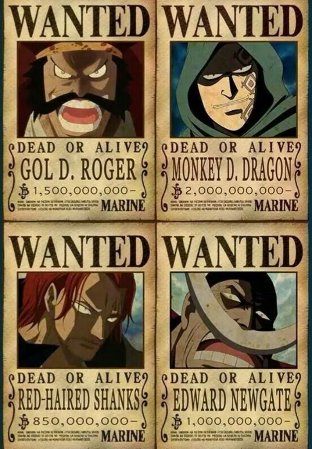very very outdated. join list: onepiece (236 subs)Mention History.. I thought the bounty reveals matched perfectly for all of them.