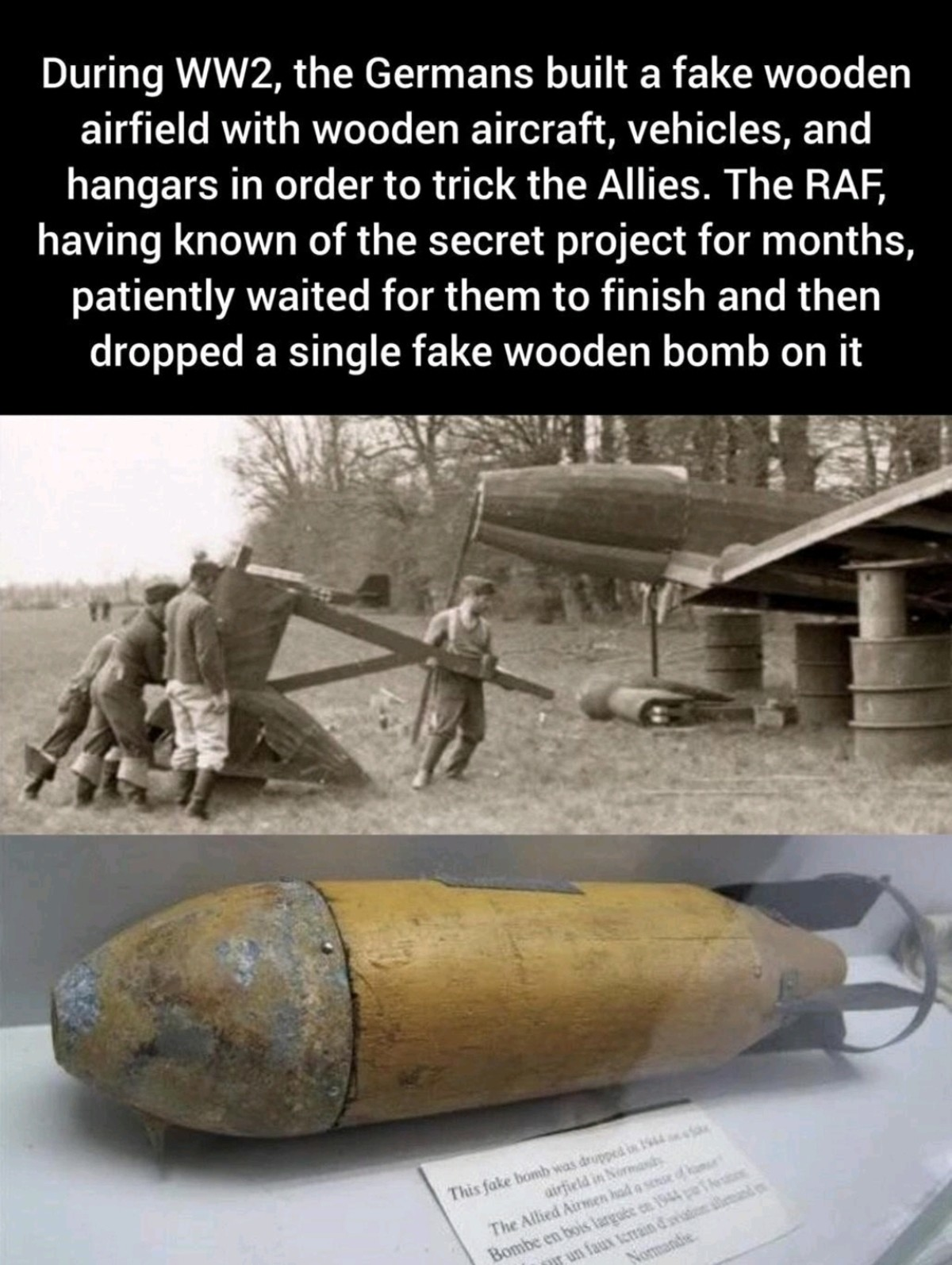 Wartime Fun. .. Even in war when resources are limited there's time for a quick gag