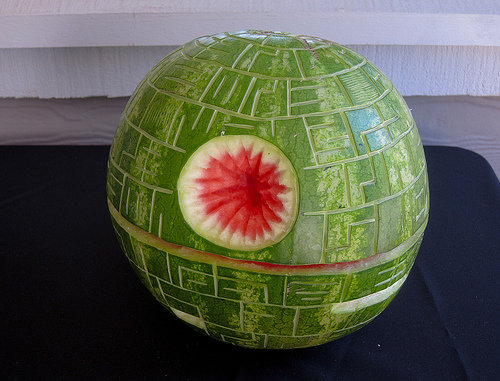 watermelon death star. .. planet destorying terror not with more juice inside.