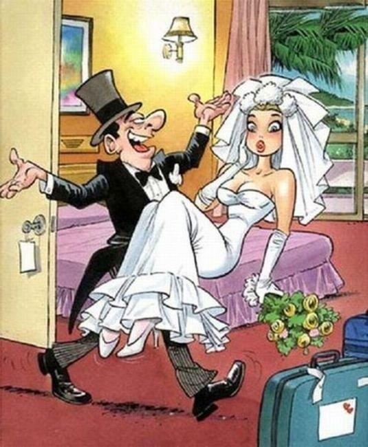 Wedding ht. Look, no hands!.