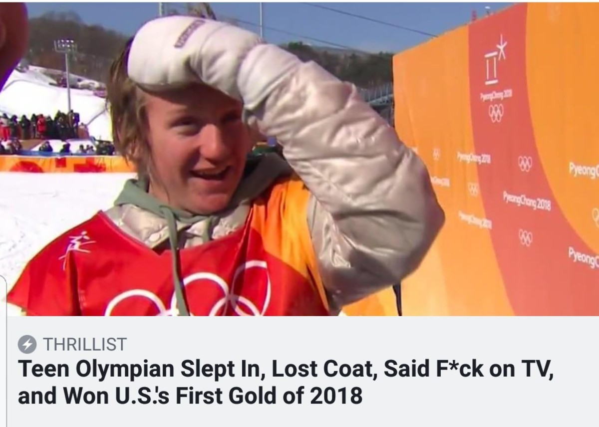 what a legend. . Teen Olympian Slept In, Lost Coat, Said Wok on TV, and Won U.. S.' s First Gold of 2018. Sounds like a real true blue, red blooded, American to me.